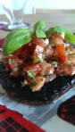 Portobello Mushroom with tomato salsa